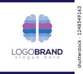 brain blue color logo icon... | Shutterstock .eps vector #1248549163