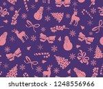 christmas theme seamless... | Shutterstock .eps vector #1248556966