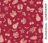 christmas theme seamless... | Shutterstock .eps vector #1248556969