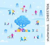 christmas or  new year holiday...   Shutterstock .eps vector #1248557836