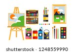 painter icons set  painting ... | Shutterstock .eps vector #1248559990