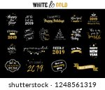 happy new year 2019 typographic ... | Shutterstock .eps vector #1248561319