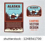 usa poster and badge. alaska... | Shutterstock .eps vector #1248561730