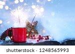 christmas holidays background ... | Shutterstock . vector #1248565993