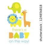 baby shower design. vector... | Shutterstock .eps vector #124856818