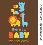 baby shower design. vector... | Shutterstock .eps vector #124856830