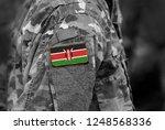 flag of kenya on soldiers arm....   Shutterstock . vector #1248568336