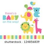 baby shower design. vector... | Shutterstock .eps vector #124856839