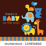 baby shower design. vector... | Shutterstock .eps vector #124856860