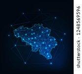 belgium map made of lines ... | Shutterstock .eps vector #1248569596