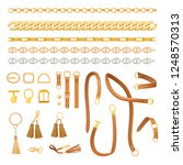 chains and belts fashion... | Shutterstock .eps vector #1248570313