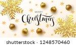 christmas greeting card   web... | Shutterstock .eps vector #1248570460