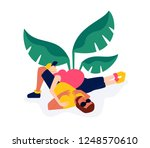 pregnant woman. vector... | Shutterstock .eps vector #1248570610