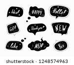 set of black speech bubbles in... | Shutterstock .eps vector #1248574963