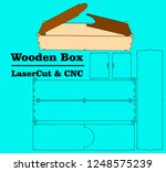 laser cutting box. without... | Shutterstock .eps vector #1248575239