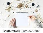 new year resolution  wish list... | Shutterstock . vector #1248578200