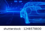 blue wireframe modern electric... | Shutterstock . vector #1248578830