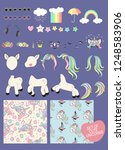 set with unicorn parts for...   Shutterstock . vector #1248583906