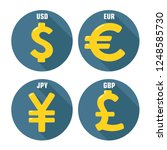 vector financial icon currency... | Shutterstock .eps vector #1248585730