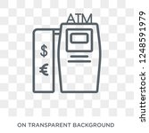 atm icon. trendy flat vector... | Shutterstock .eps vector #1248591979