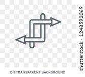 random icon. trendy flat vector ... | Shutterstock .eps vector #1248592069