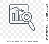 market trends icon. trendy flat ... | Shutterstock .eps vector #1248592126