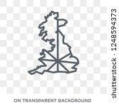 united kingdom flag icon....   Shutterstock .eps vector #1248594373