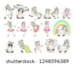 big set with unicorns for...   Shutterstock . vector #1248596389