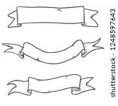 vector set of black sketch... | Shutterstock .eps vector #1248597643