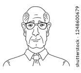 vector line art business avatar ... | Shutterstock .eps vector #1248600679