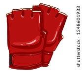 vector cartoon red fighting... | Shutterstock .eps vector #1248601933