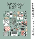 hand drawn christmas morning... | Shutterstock .eps vector #1248601969
