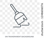 broom icon. trendy flat vector... | Shutterstock .eps vector #1248606076