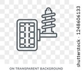 car suspension icon. car...   Shutterstock .eps vector #1248606133