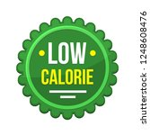 green low calorie product label ... | Shutterstock .eps vector #1248608476