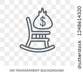 defined benefit pension icon....   Shutterstock .eps vector #1248614320