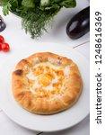 georgian traditional flatbread...   Shutterstock . vector #1248616369
