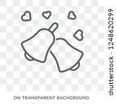 wedding bells icon. wedding... | Shutterstock .eps vector #1248620299