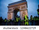 paris  france   december 01 ... | Shutterstock . vector #1248622729