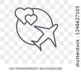honeymoon icon. honeymoon... | Shutterstock .eps vector #1248627103