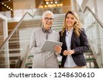 portrait of senior and young... | Shutterstock . vector #1248630610