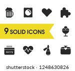 activity icons set with heart ...