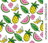 tropical summer semaless... | Shutterstock .eps vector #1248631663