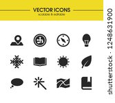 universal icons set with... | Shutterstock .eps vector #1248631900