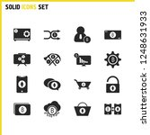 crypto icons set with unlock...