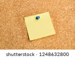 reminders on a cork plate | Shutterstock . vector #1248632800