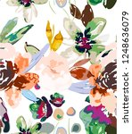 vintage seamless pattern with...   Shutterstock .eps vector #1248636079