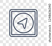 navigation icon. trendy linear... | Shutterstock .eps vector #1248636340