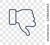 dislike icon. trendy linear... | Shutterstock .eps vector #1248636463