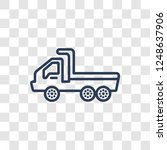 flatbed lorry icon. trendy...   Shutterstock .eps vector #1248637906